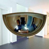 Kogelspiegel polycarbonaat 180° 90 cm, incl. stalen frame