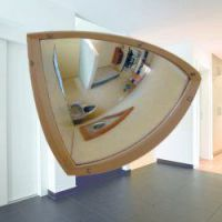 Kogelspiegel polycarbonaat 90° 90 cm, incl. stalen frame