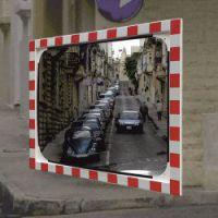 Verkeersspiegel 80x100 cm glas, beugel 48-90 mm