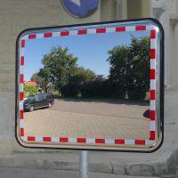 Anti-Vries Spiegel RVS 80x100 cm, beugel 76 mm