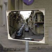 Vandaalbestendige spiegel 60x80cm polycarbonaat beugel 48-90