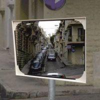 Vandaalbestendige spiegel 80x100cm polycarbonaat,beugel 48-90