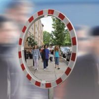 Traffic mirror glass 80 cm, bracket 48-90 mm